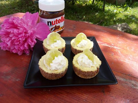 Nutella lime mini cheesecakes