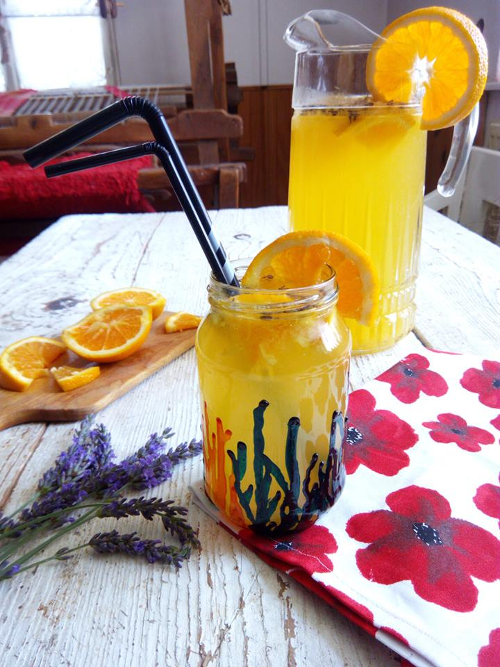 Lavender orange lemonade