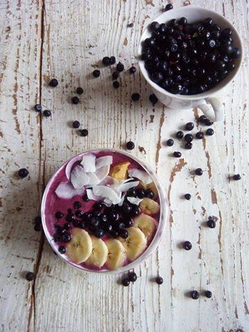 Blueberry raspberry smoothie