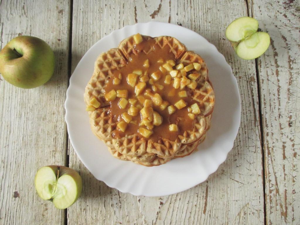 jablkové wafle