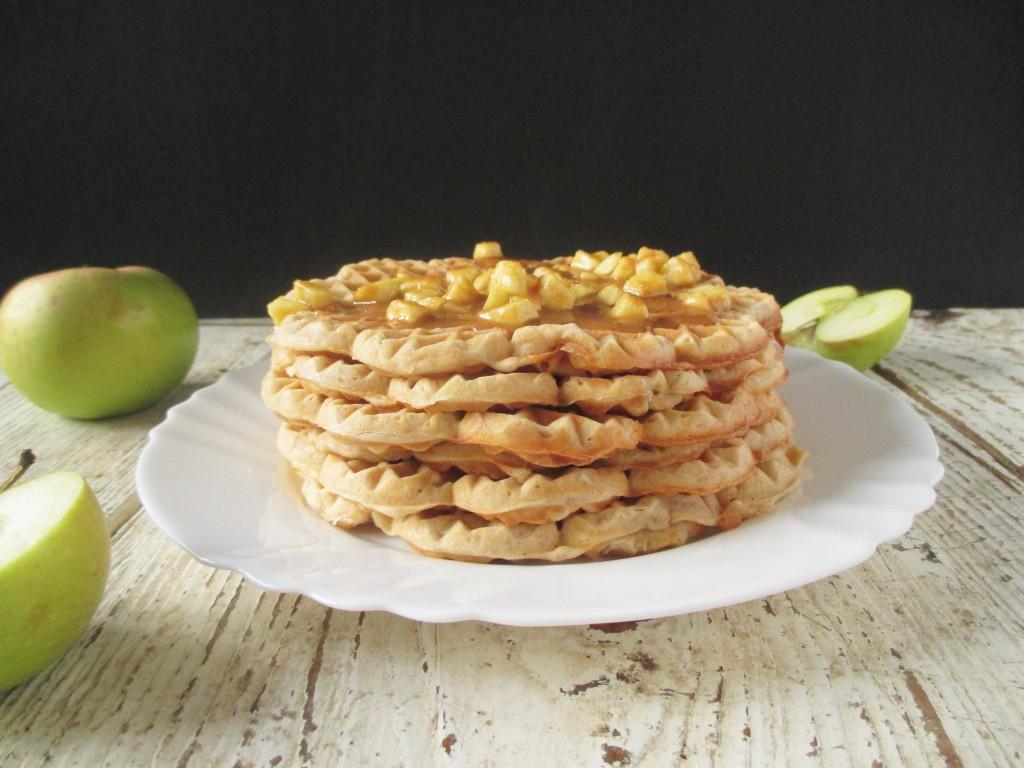 jablkové wafle so škoricou