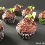 Čokoládovo-mätové cupcakes