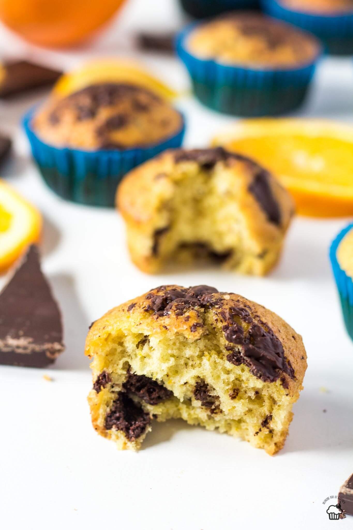 pomarančové muffiny