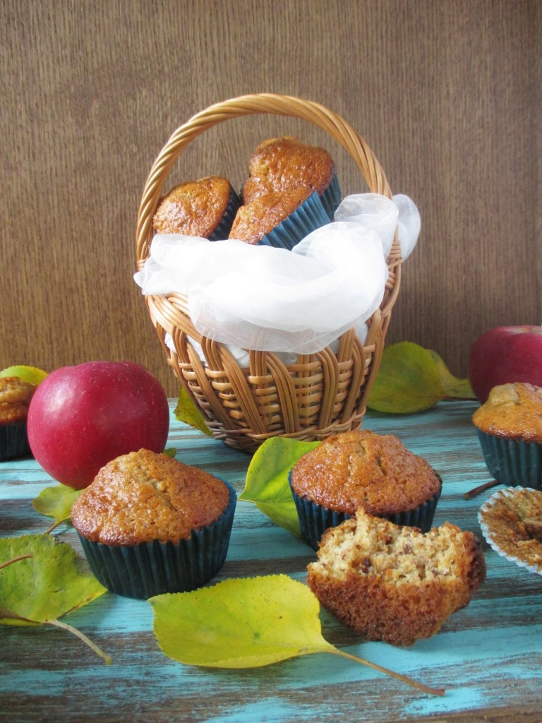 apple muffins with soy candy bar