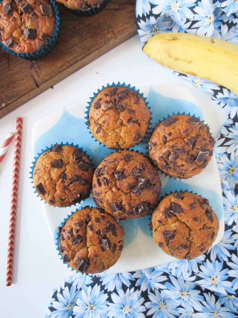 banana-chocolate-muffin