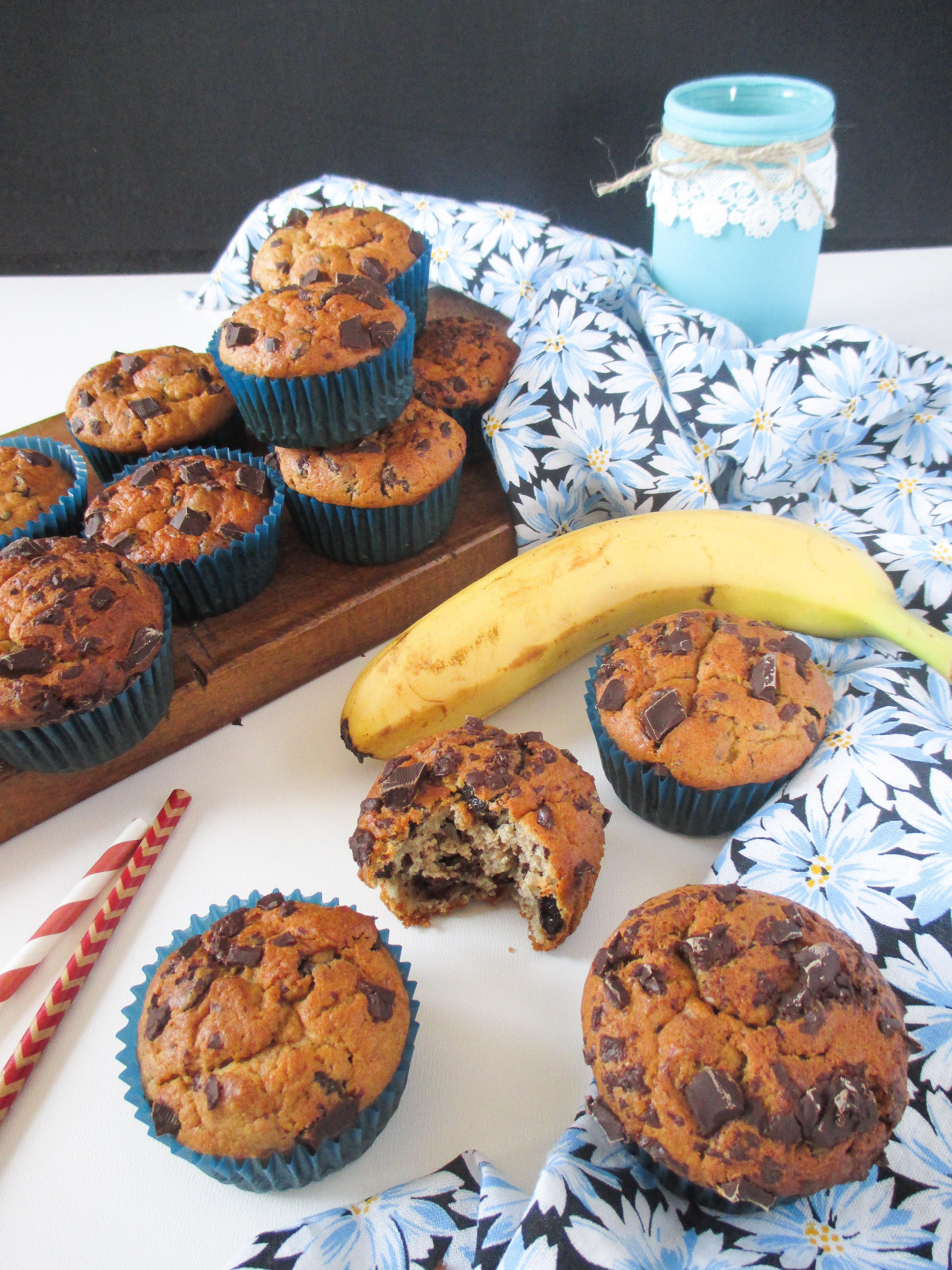 Banana Muffins Using Vanilla Cake Mix