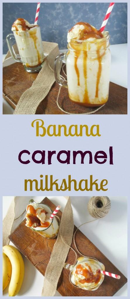 banana caramel milkshake