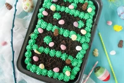 easter garden cake