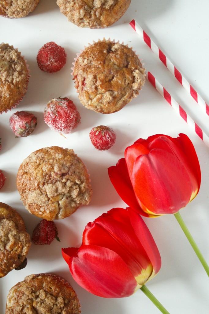 jahodove cheecake muffiny