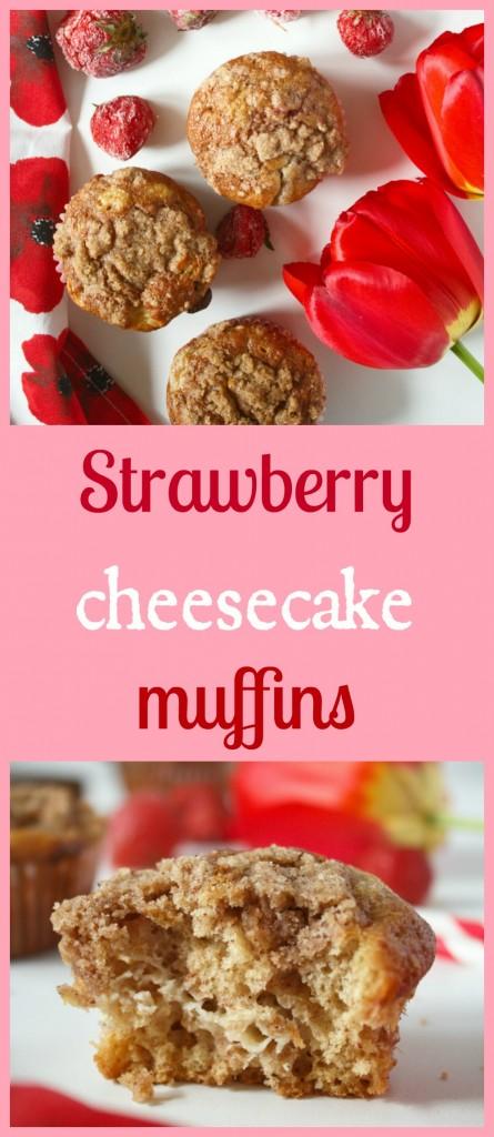 jahodove cheesecake muffiny