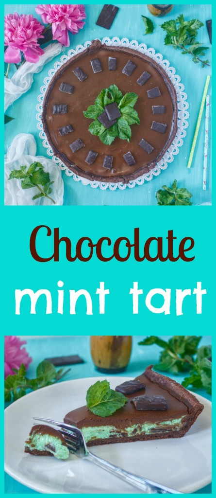 čokoládovo - mätový tart pin