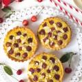 čerešňovo - mandľové tartaletky