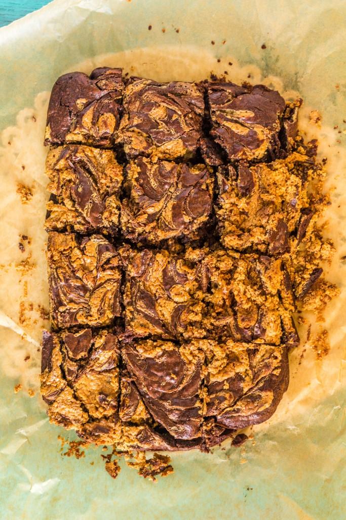 brownies s arašidovým maslom