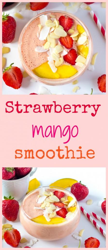 jahodovo - mangové smoothie