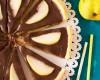 hruškový tart s čokoládou