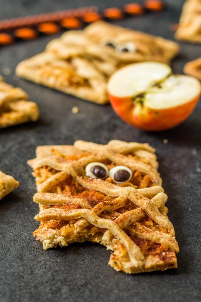 jablkovo - škoricové halloweenske múmia cookies