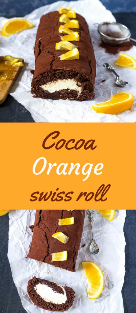 kakaovo - pomarančová roláda