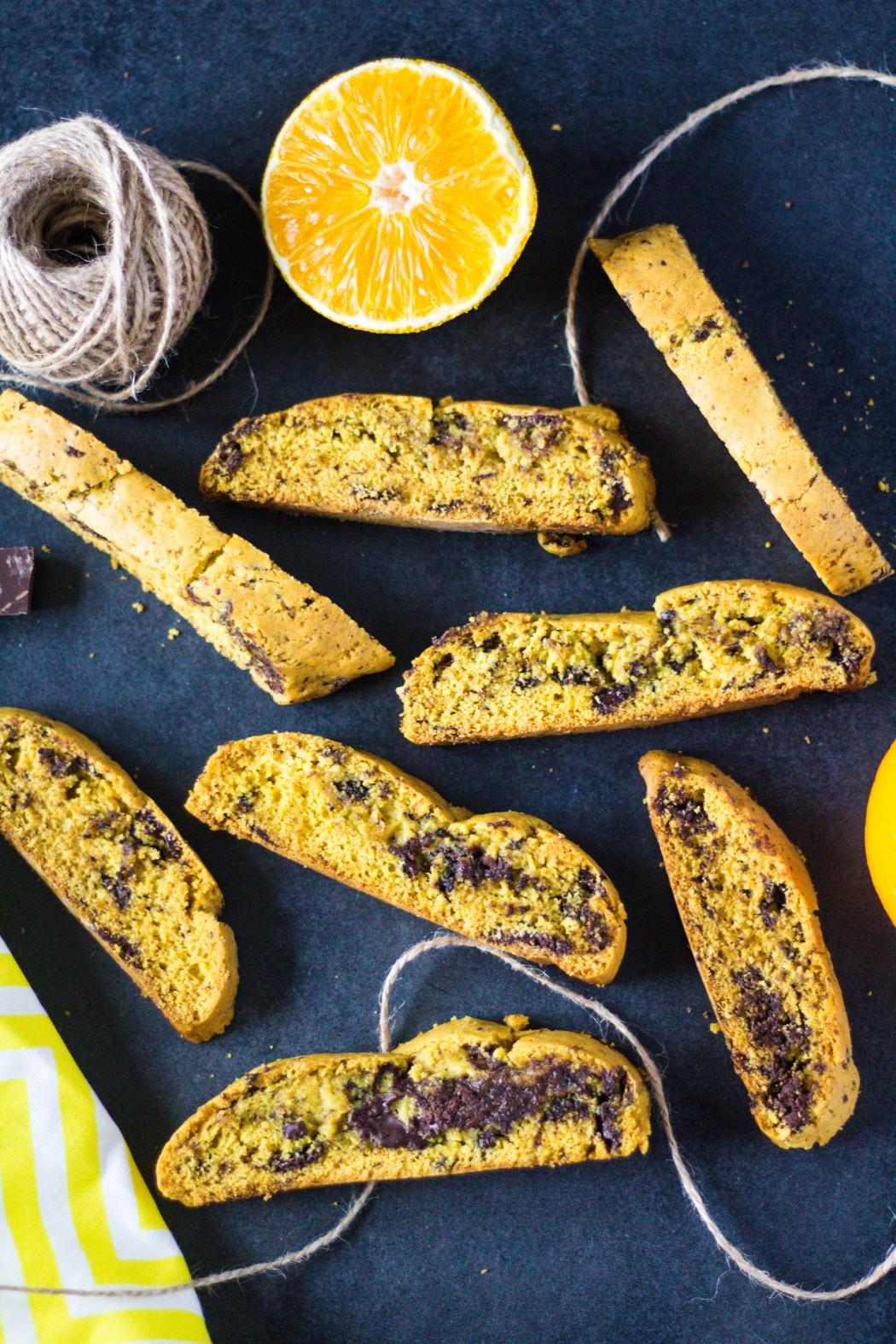 pomarančovo - čokoládové biscotti