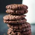 Dvojčokoládové plnené sušienky s ganache