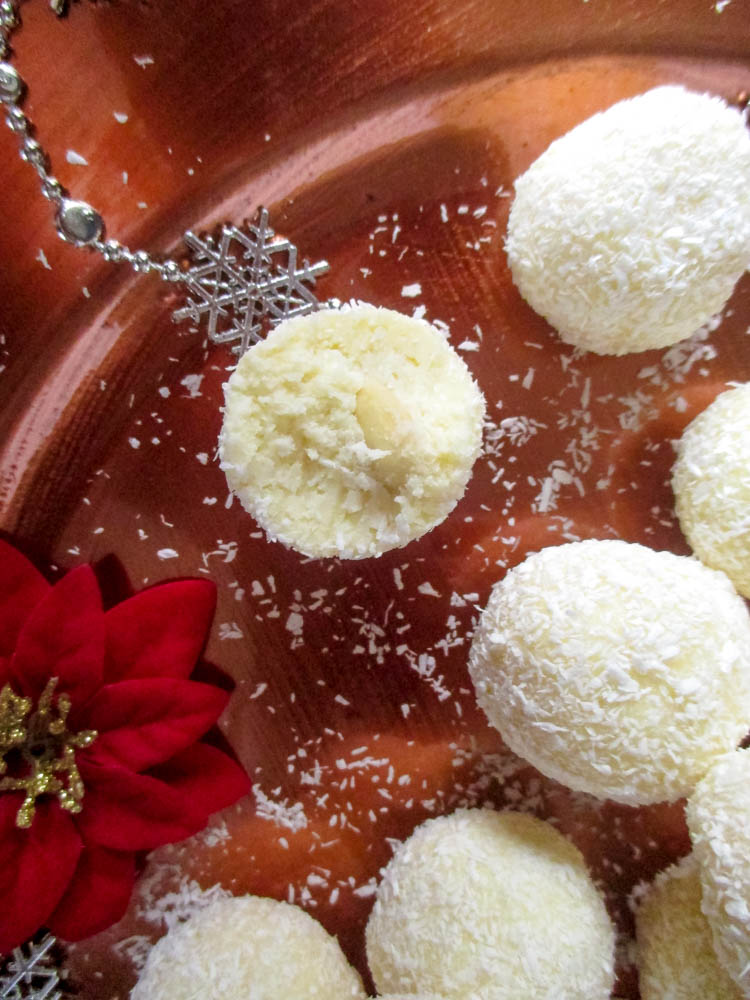 Kokosové raffaello truffles guľky