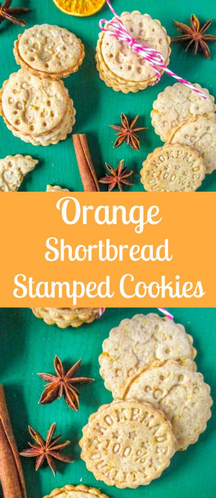 Pomarančové pečiatkové sušienky