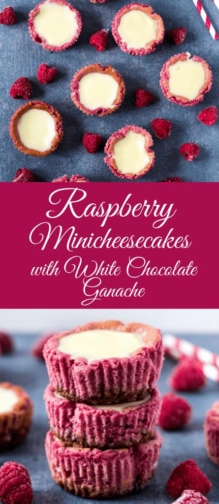Malinové minicheesecakes s ganache z bielej čokolády