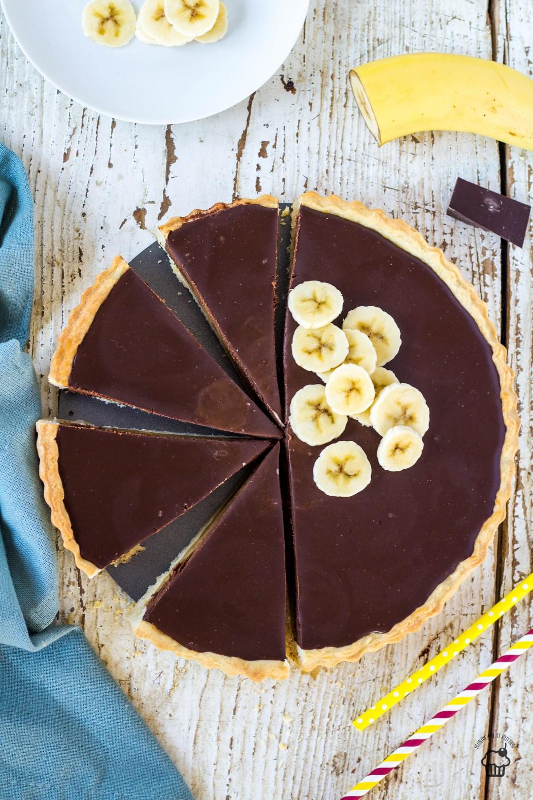 Banánový tart s čokoládou