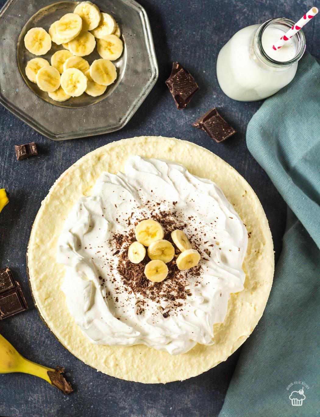 pudingová banánová torta