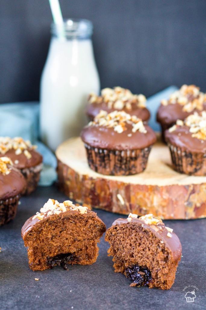 Perníkové muffiny s domácim slivkovým lekvárom