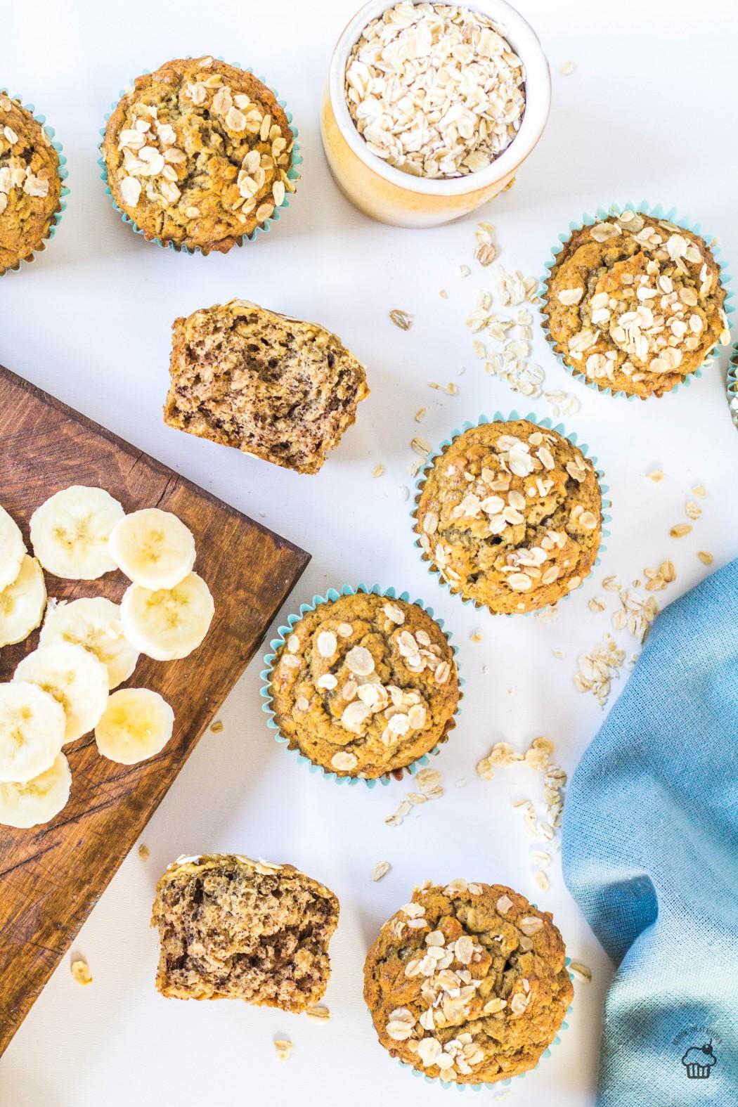 Banánové muffiny s ovsenými vločkami a čajom chai