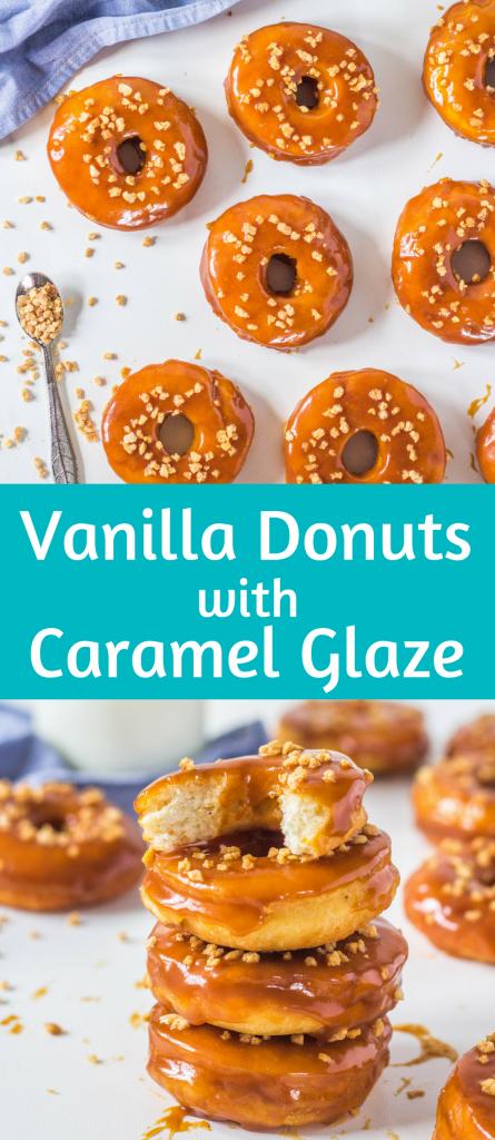 vanilkové donuty s karamelom