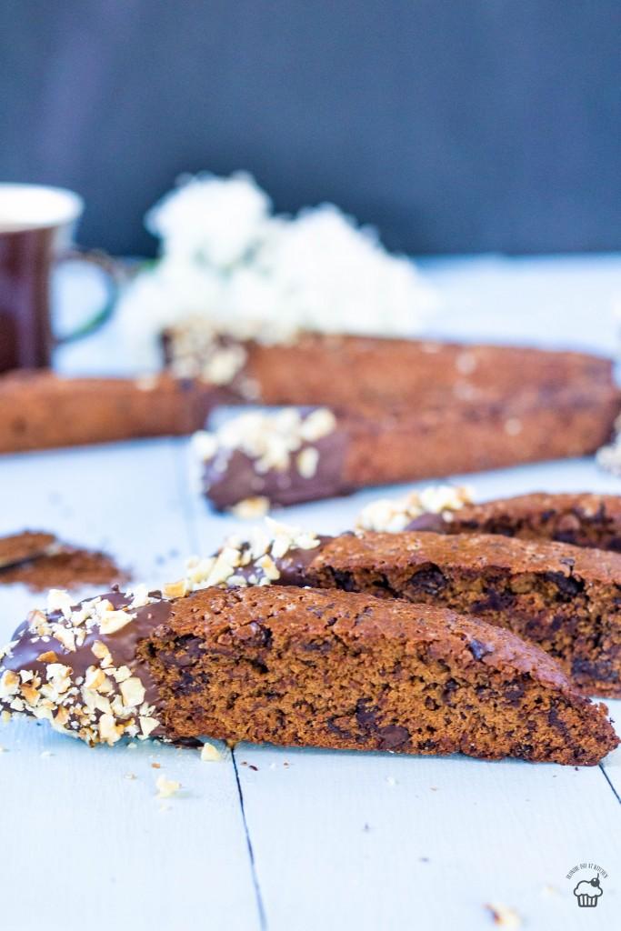 kávové biscotti s čokoládou