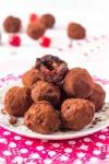 čokoládovo čerešňové truffles guľky