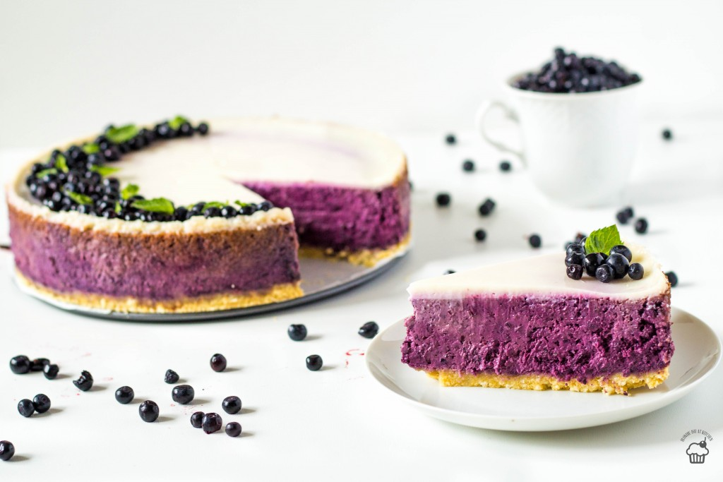 čučoriedkový cheesecake z kyslej smotany
