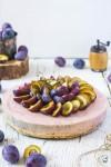 nepečený slivkový cheesecake