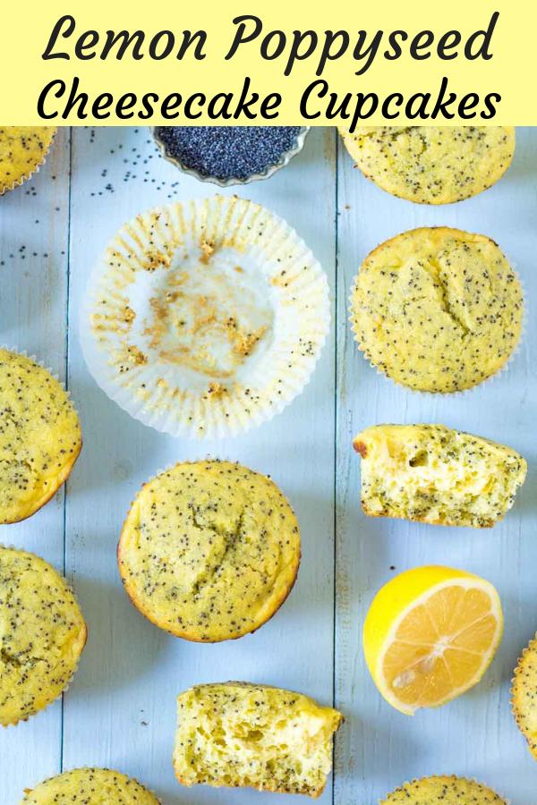 citronóvo makové cheesecake muffiny