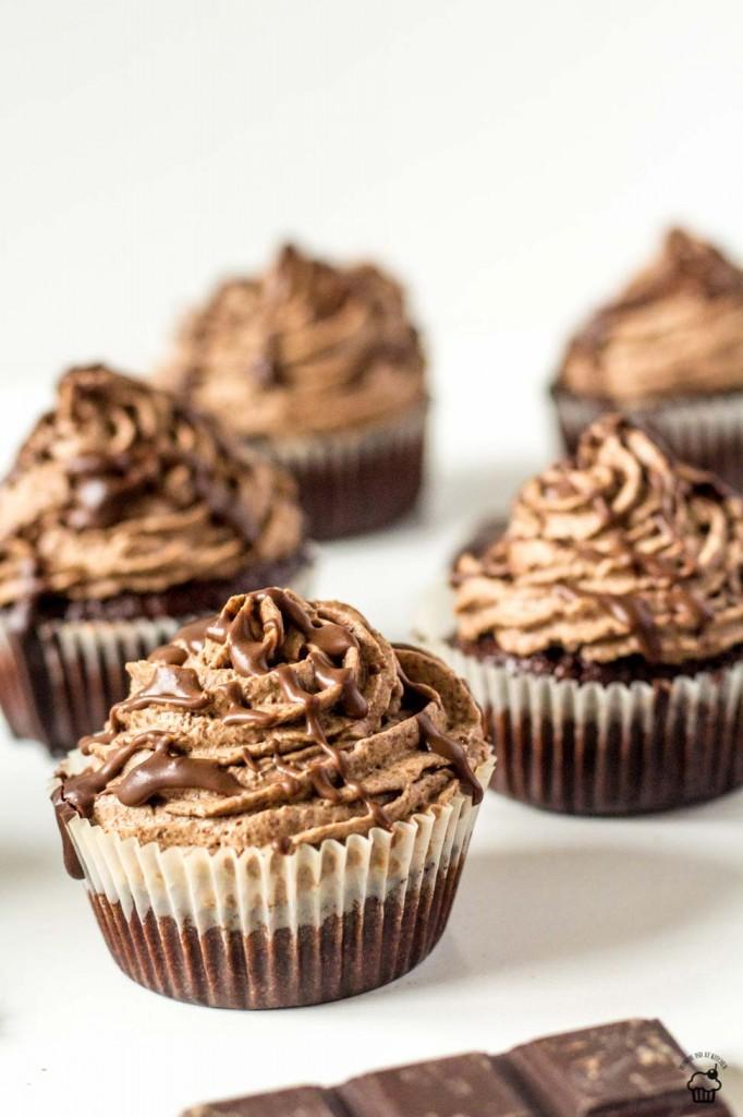 extra čokoládové cupcakes