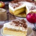 jablková torta s tvarohovým krémom