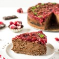 čokoládový cheesecake s čerešňovou polevou