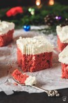 vianočné perníkové red velvet kocky