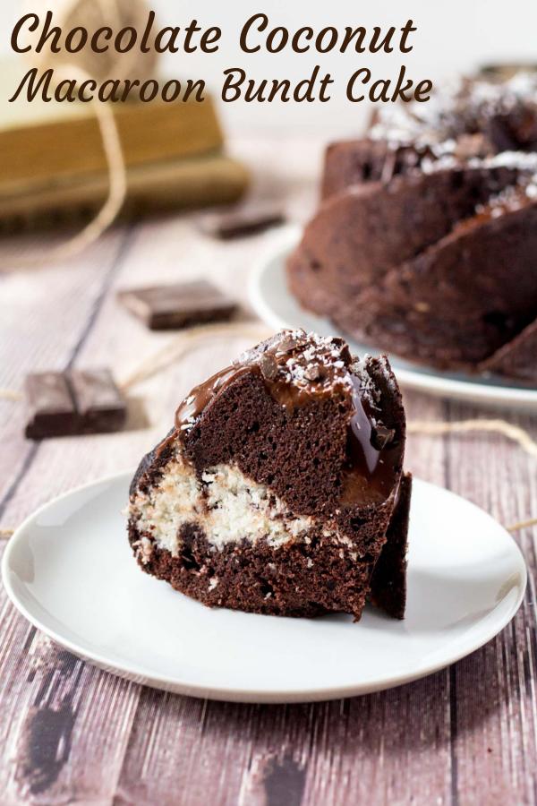 čokoládová bábovka s kokosovou plnkou
