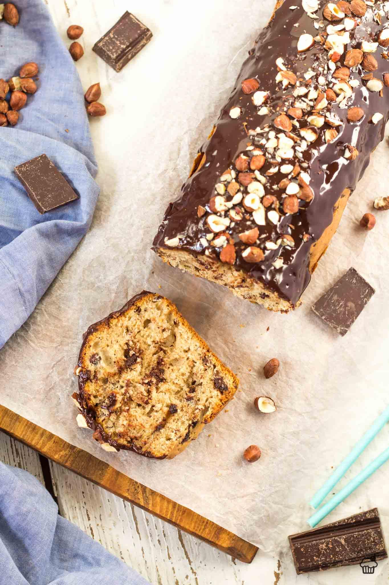 čokoládový chlebík s lieskovcami