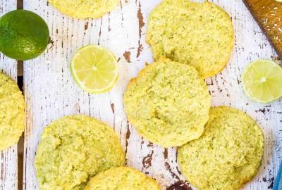 kokosovo limetkové cookies