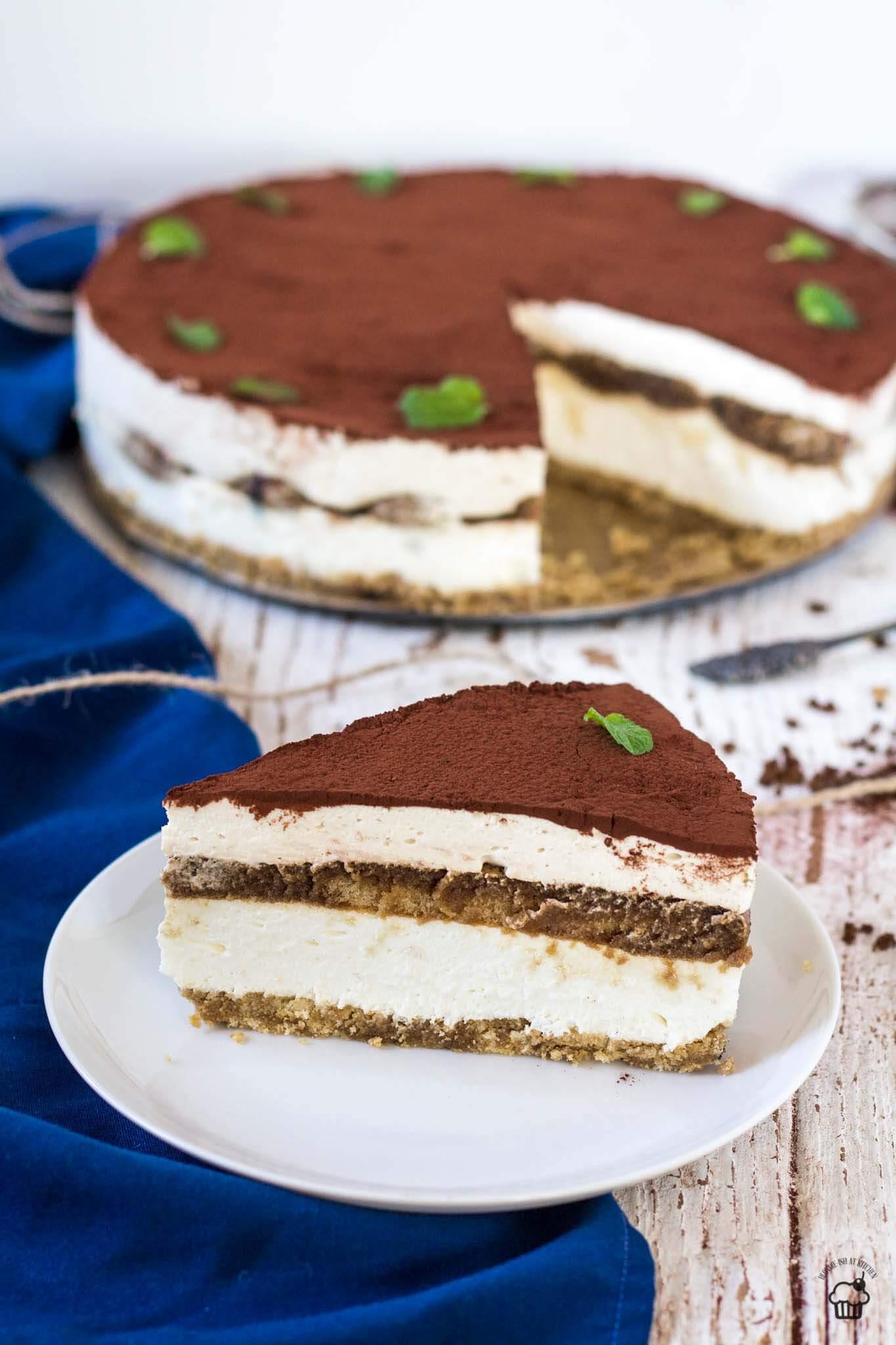 nepečený tiramisu cheesecake