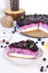 čučoriedkovo citrónový cheesecake