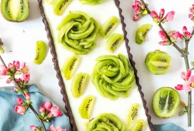 Kiwi tart s jogurtovou panna cottou