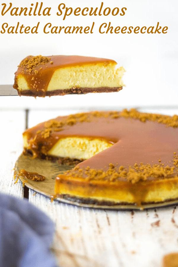 vanilkový lotus cheesecake so slaným karamelom