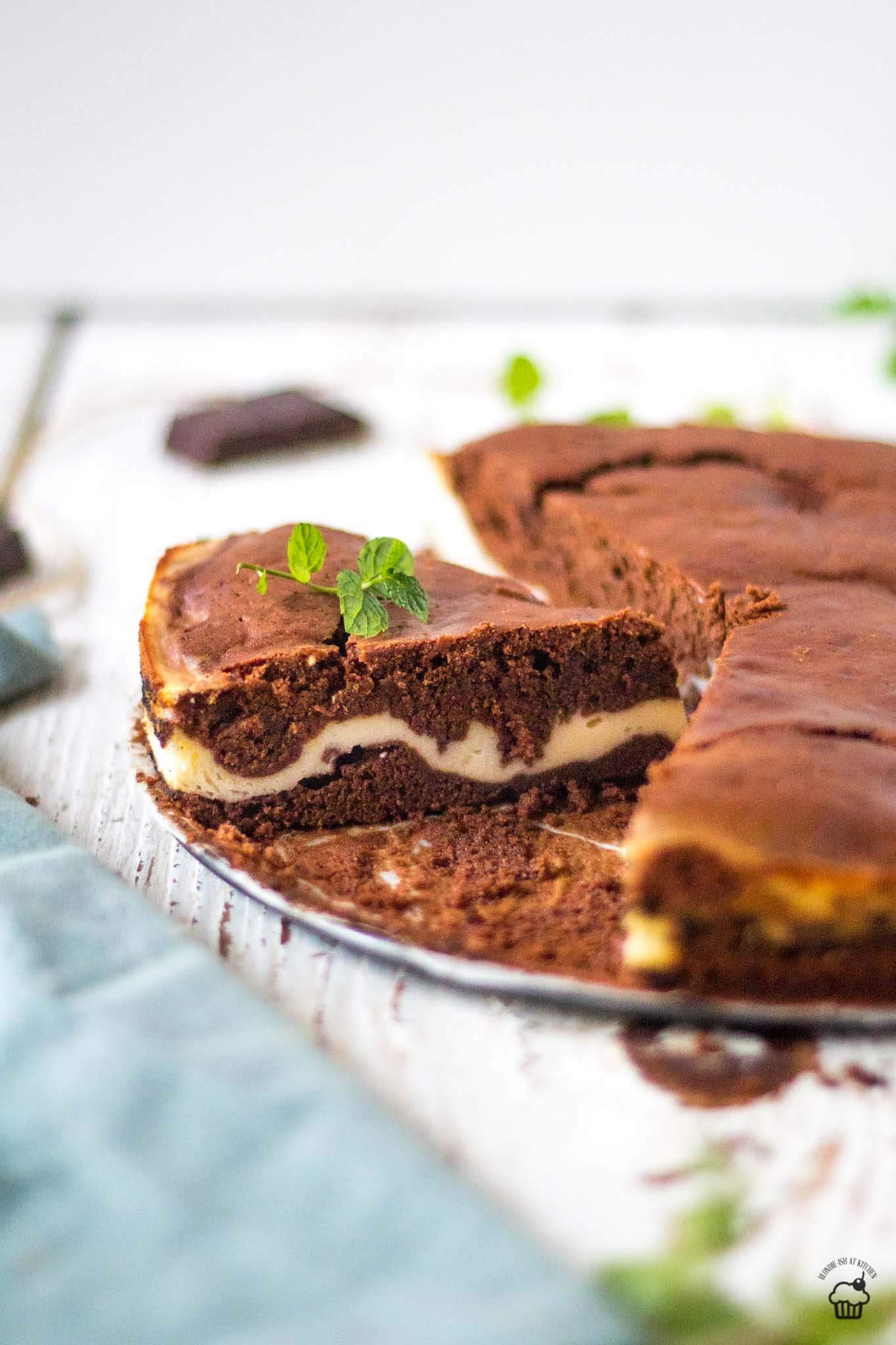 čokoládový koláč plnený ricottou