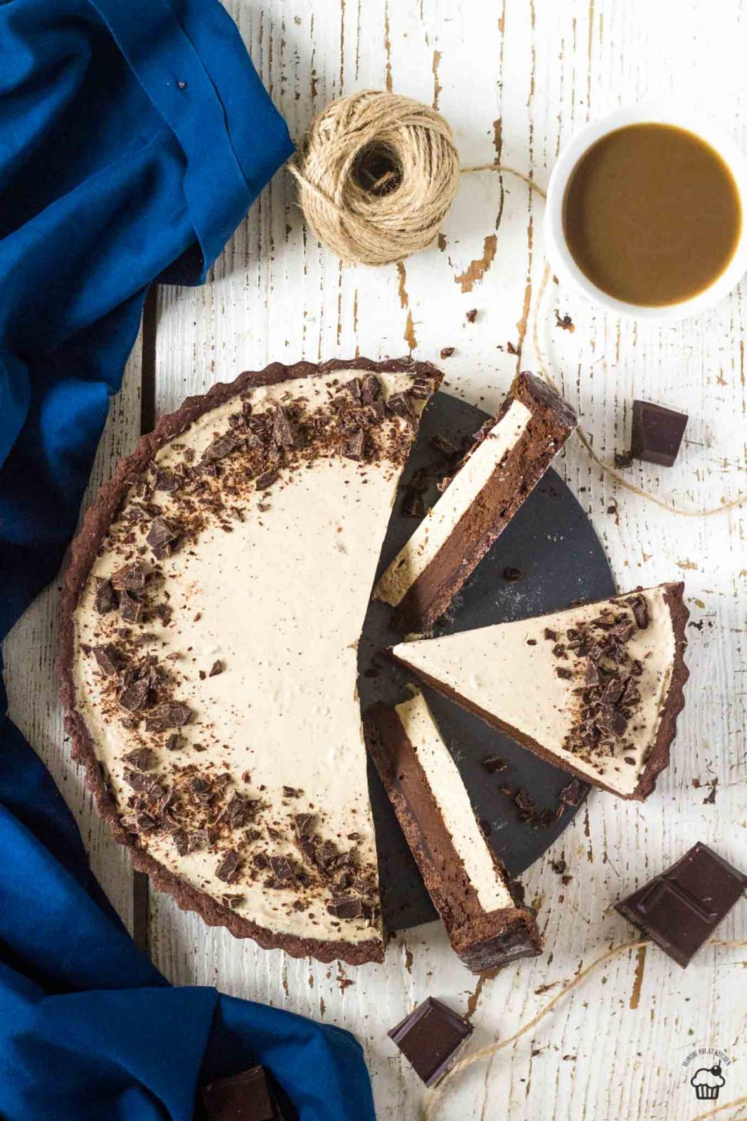 čokoládovo kávový tart