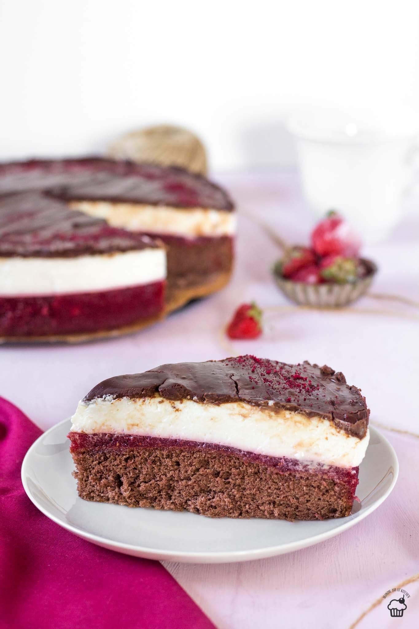 Jahodovo tvarohový koláč na spôsob Míša dezertu